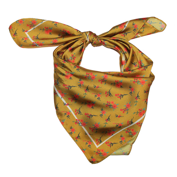Mustard Floral Scarf, Whipin Wild Rags