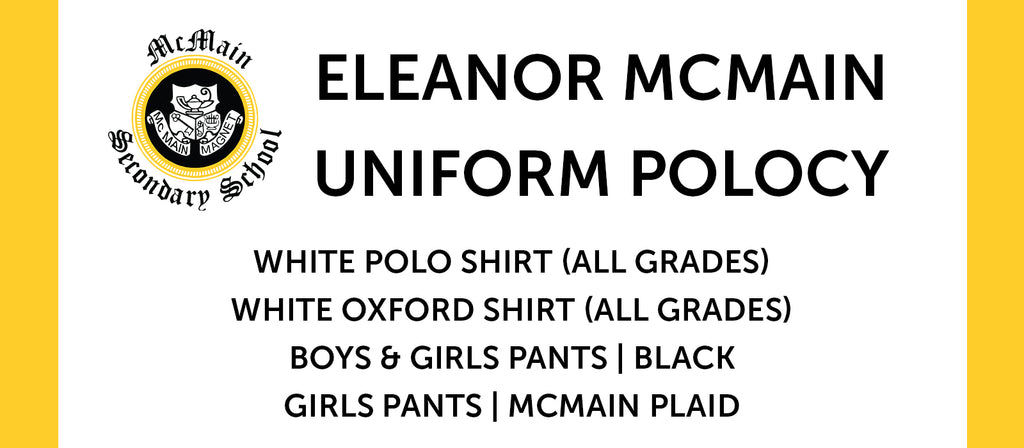 Eleanor Mcmain Uniform Policy