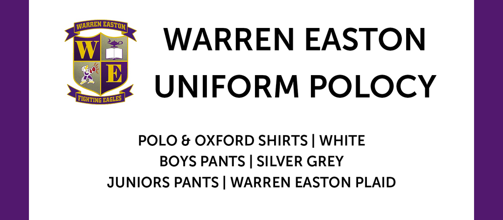 Warren Easton Uniform Policy