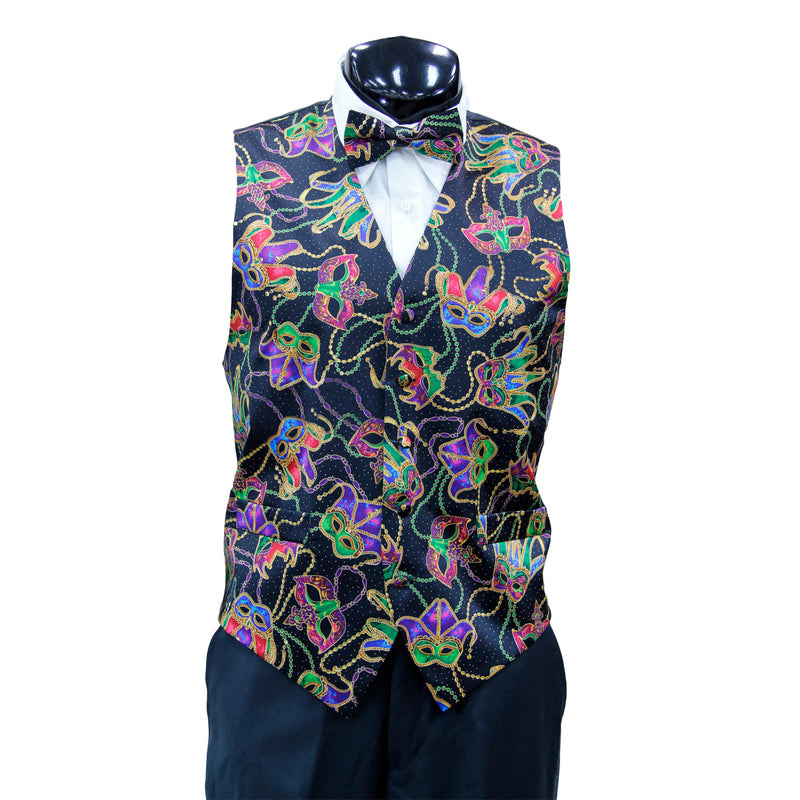 Mardi Gras Vest with matching Bow Tie  #1