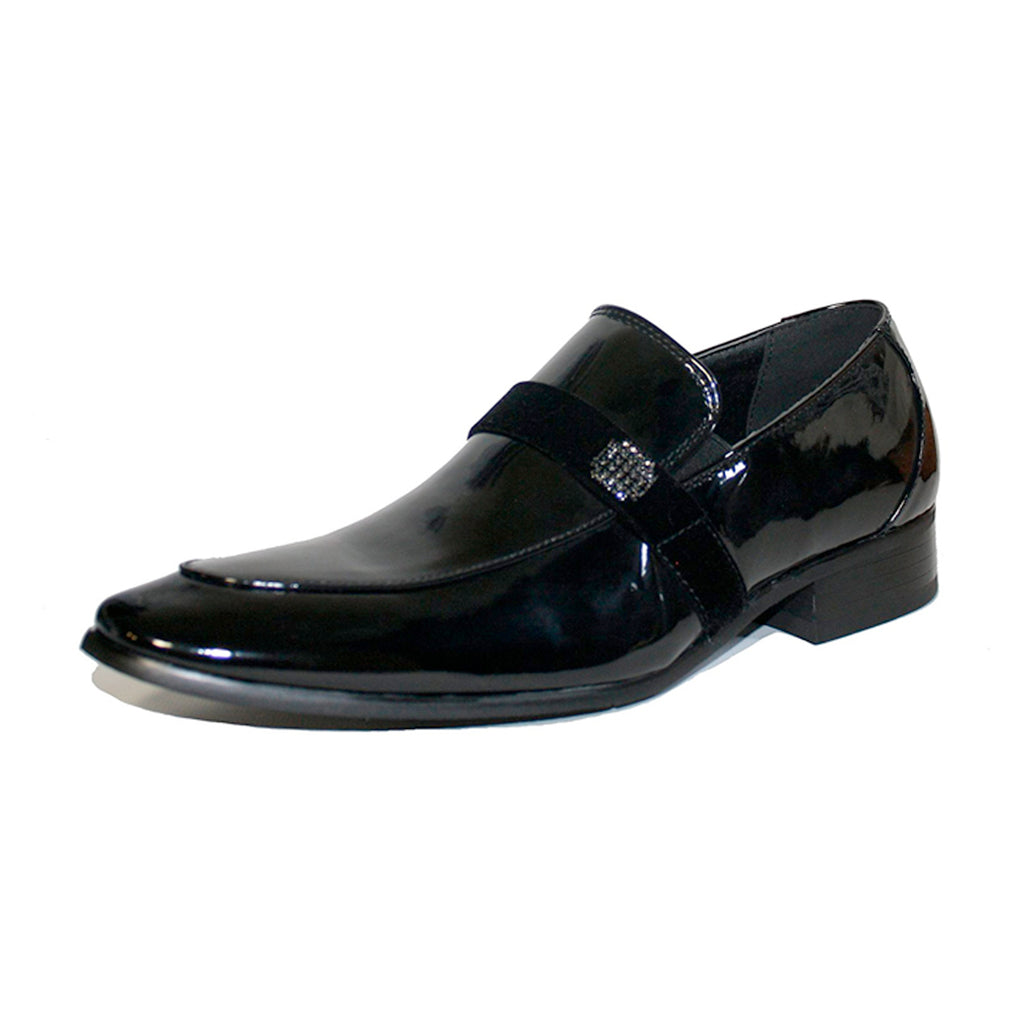 Black Slip on Tuxedo Shoe