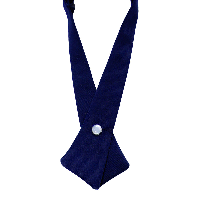 Navy Solid Criss-Cross Tie