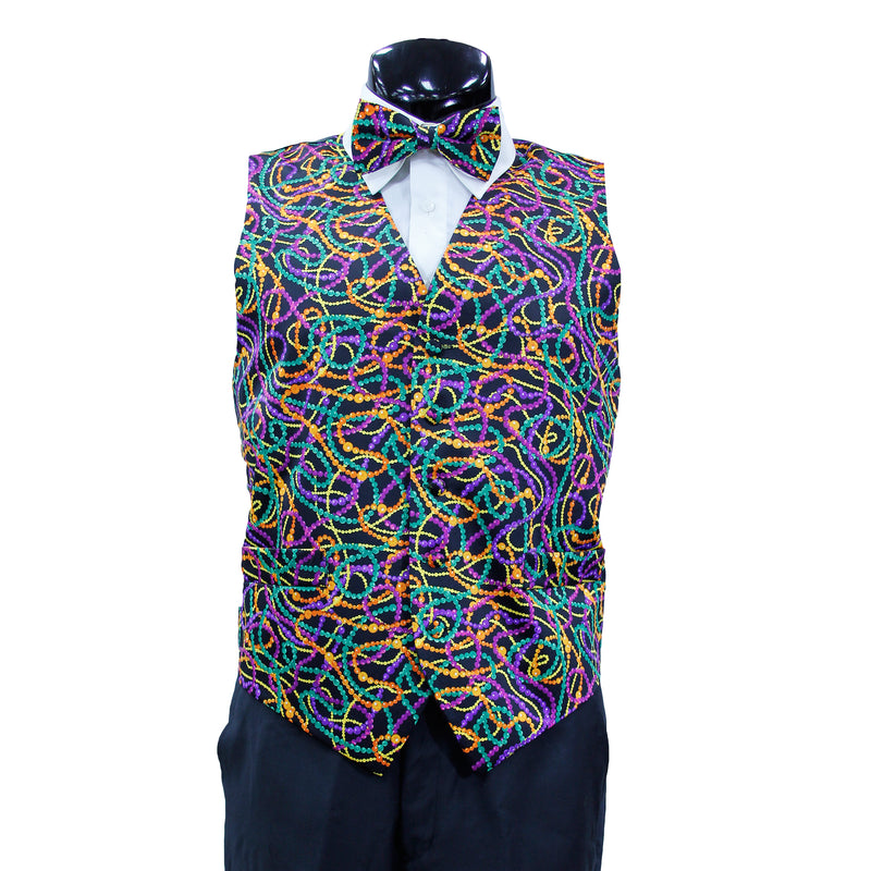 Mardi Gras Vest with matching Bow Tie  #4