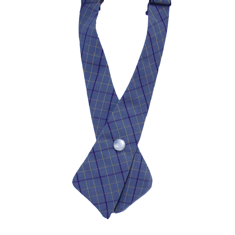 Grey Striped Criss-Cross Tie