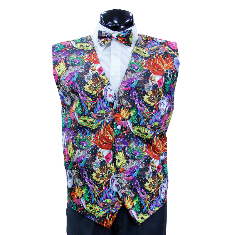 Mardi Gras Vest with matching Bow Tie  #5