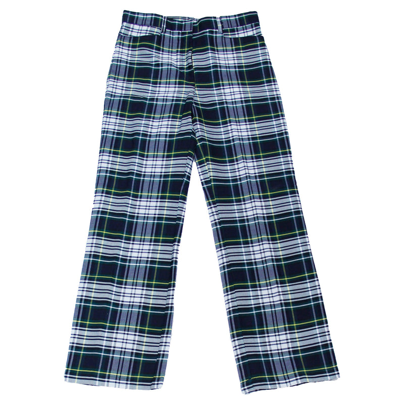 Girls Navy/Green/White Uniform Plaid Pants