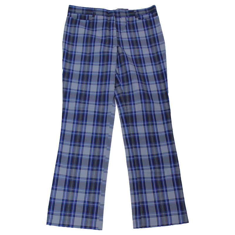 Grey/Navy/White Uniform Plaid Pants