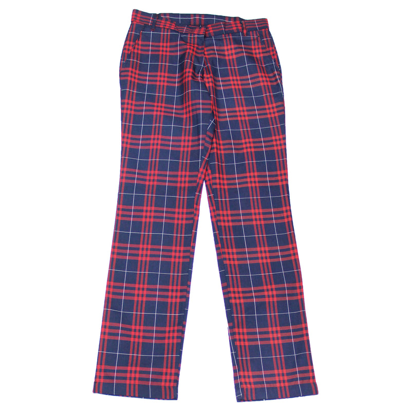 Girls Red/Black Uniform Plaid Pants