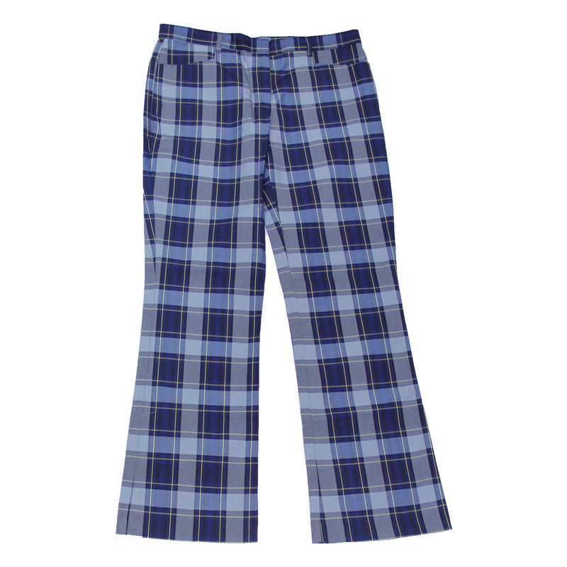Grey/Navy/Yellow Uniform Plaid Pants