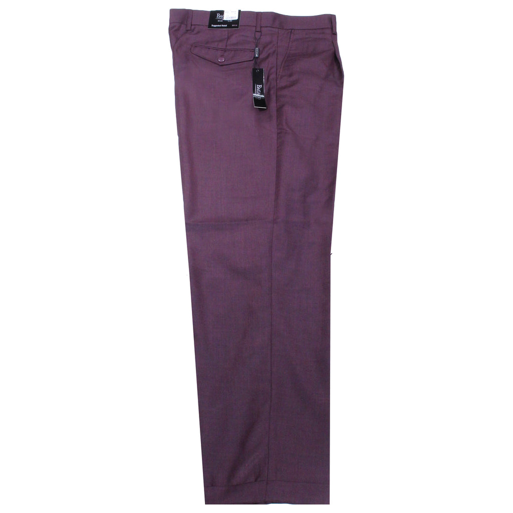 Burgundy Bagazio Dress Pants