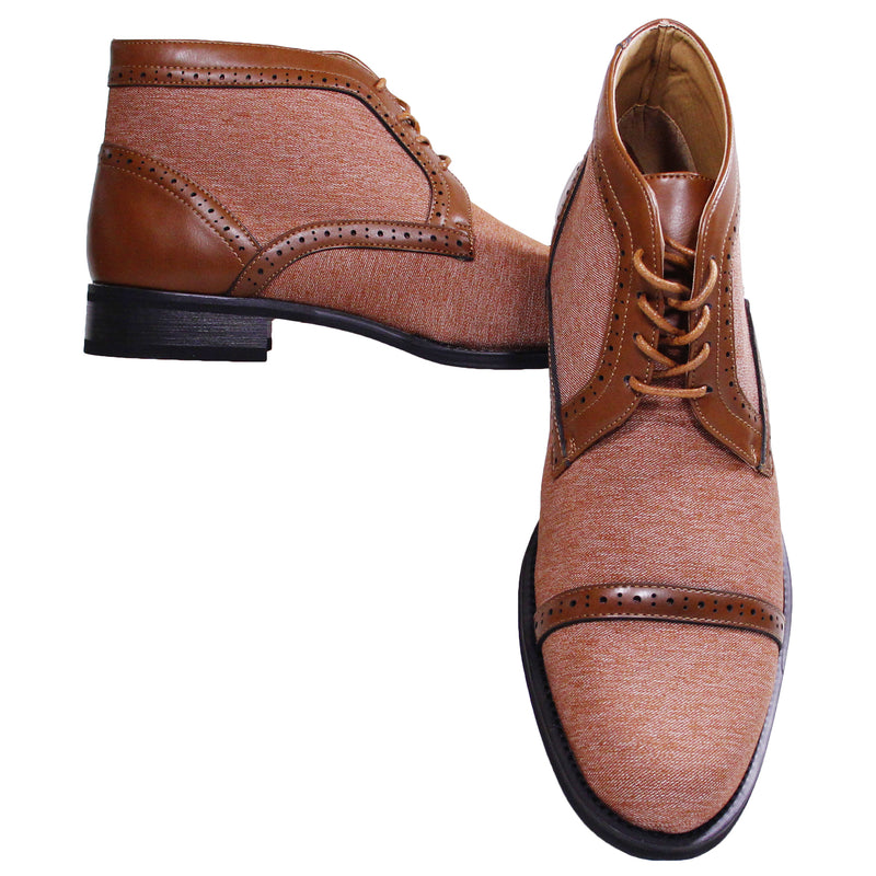 Cognac Denim Montique Boots