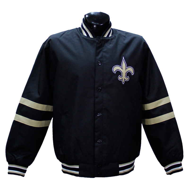 Black NFL Saints Jacket