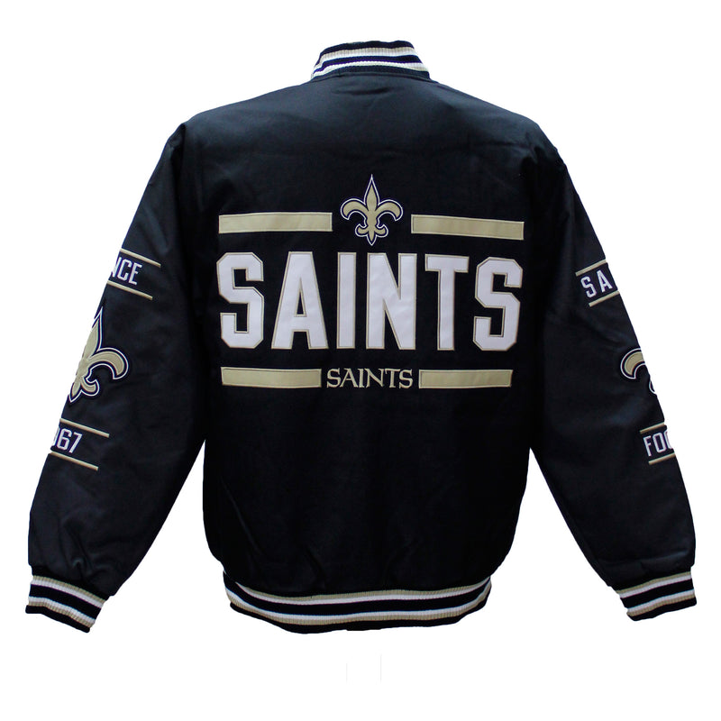 Black/Grey NFL Saints Jacket