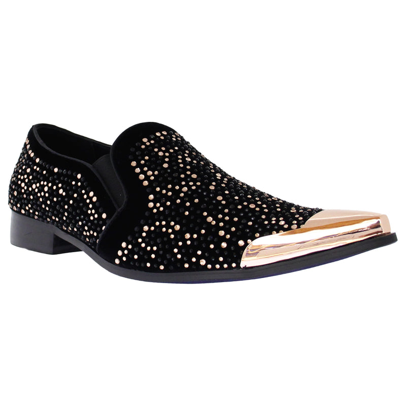 Rose Gold T Embellished Rhinestone Slip On Bolano