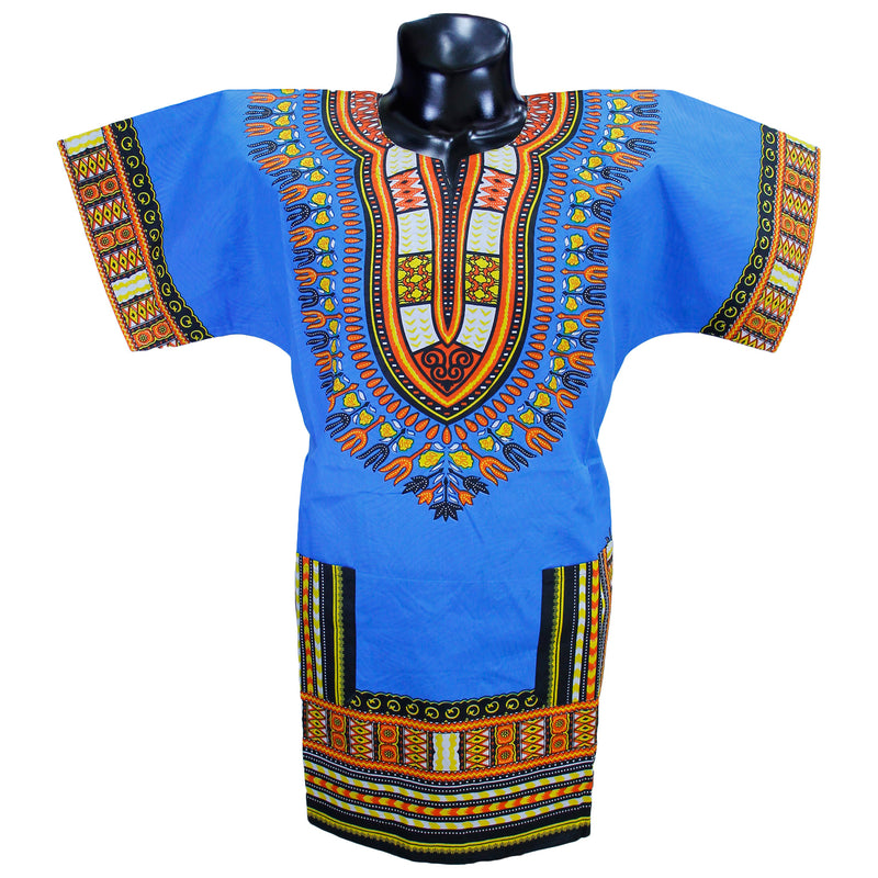 Light Blue Dashiki Shirt