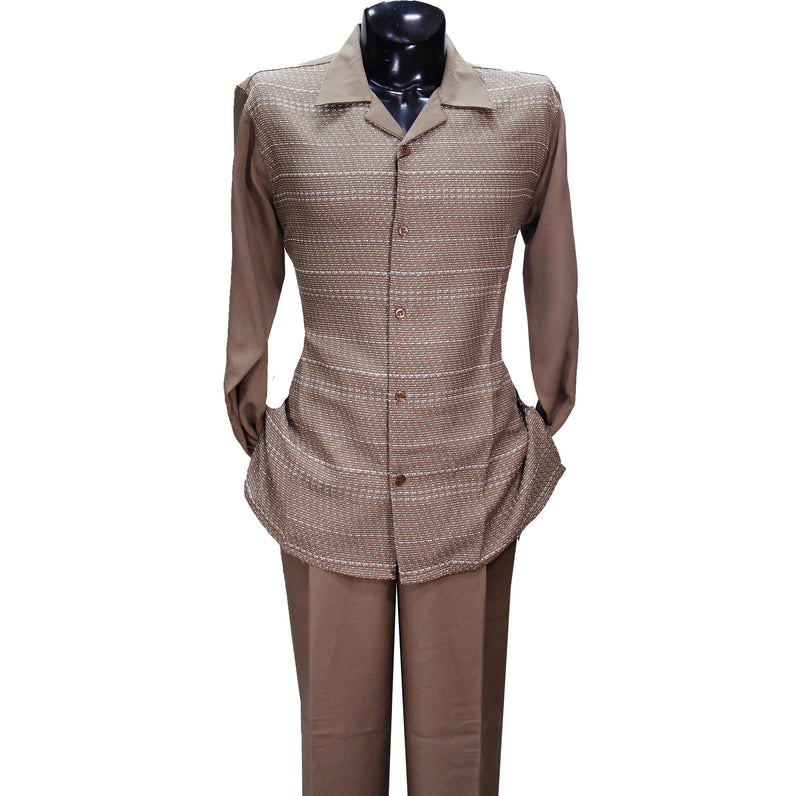 Beige Stripe Montique 2 PC Set