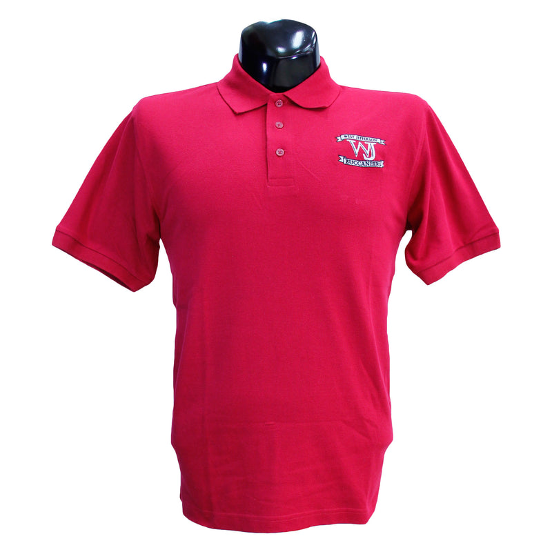 Red West Jefferson Polo Uniform Shirt