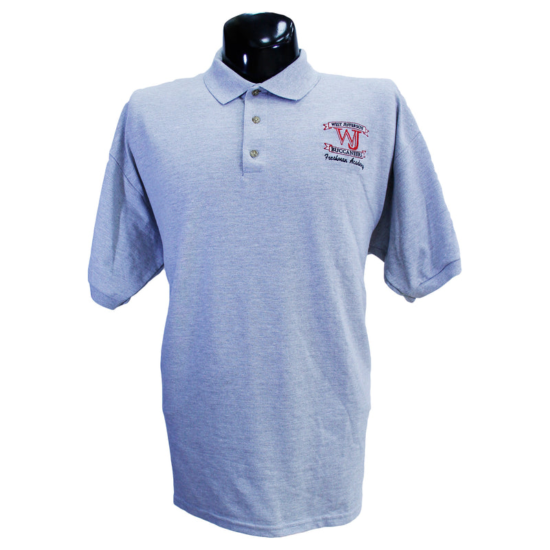 Grey West Jefferson Polo Uniform Shirt