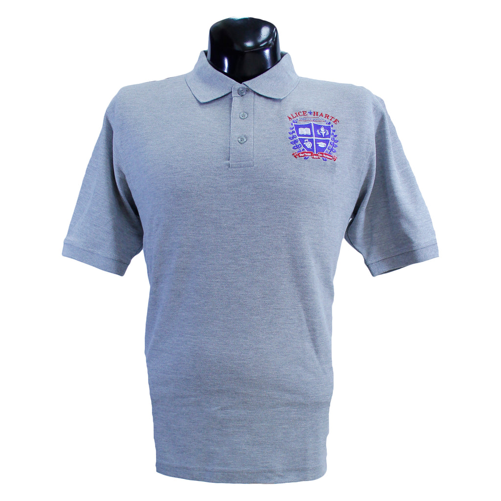 Grey Alice Harte Polo Uniform Shirt