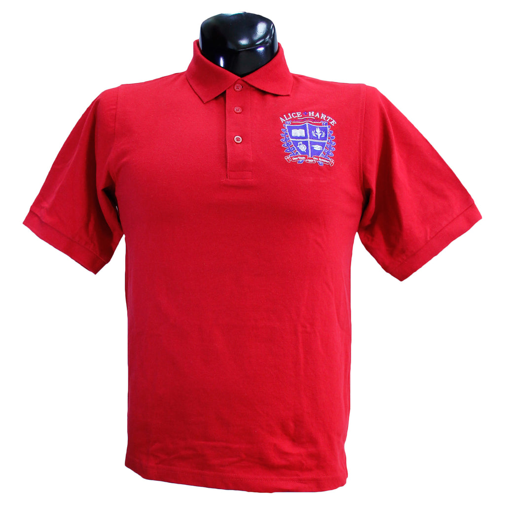 Red Alice Harte Polo Uniform Shirt
