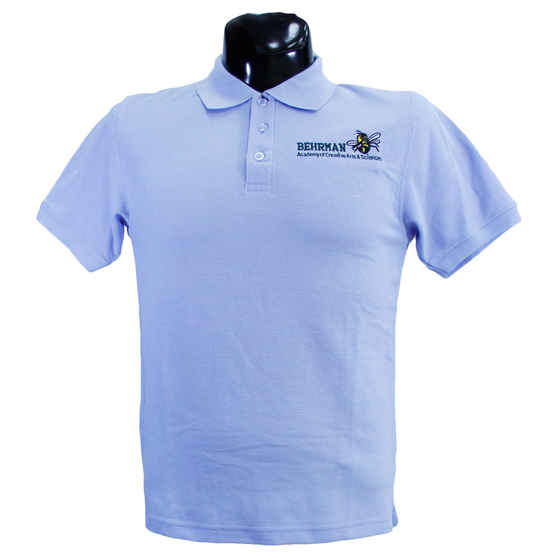 Blue Unisex Martin Behrman Polo Uniform Shirt
