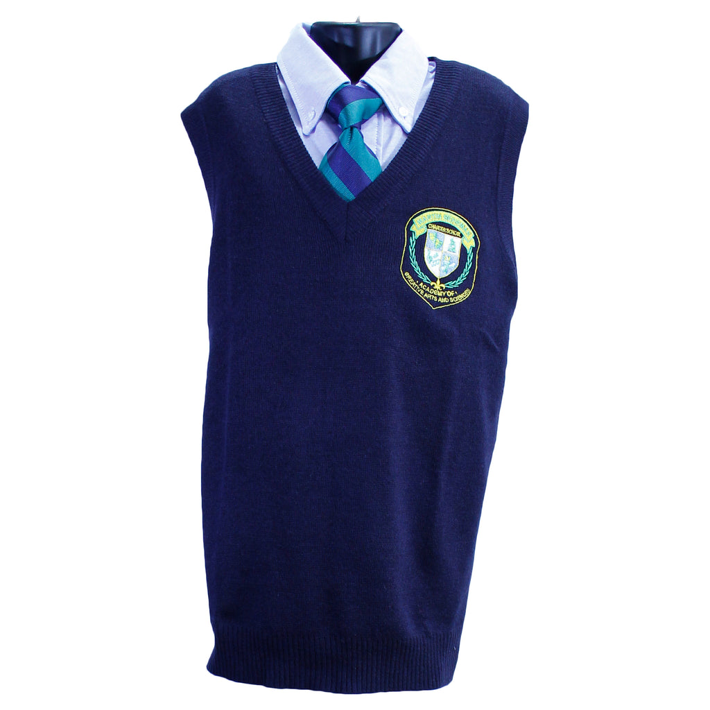 V Neck Sweater Vest Martin Behrman Uniform Shirt