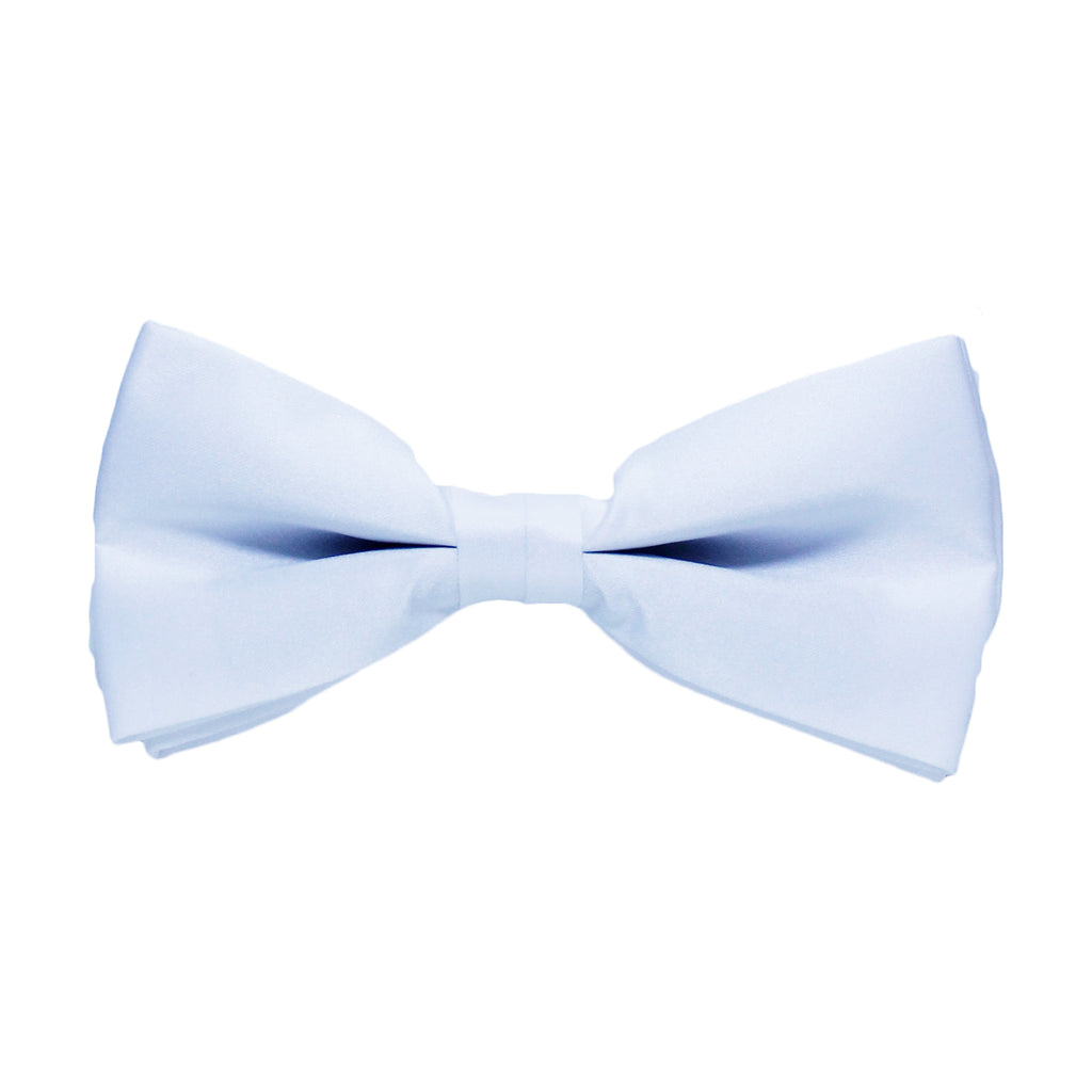 Solid White Bow Tie