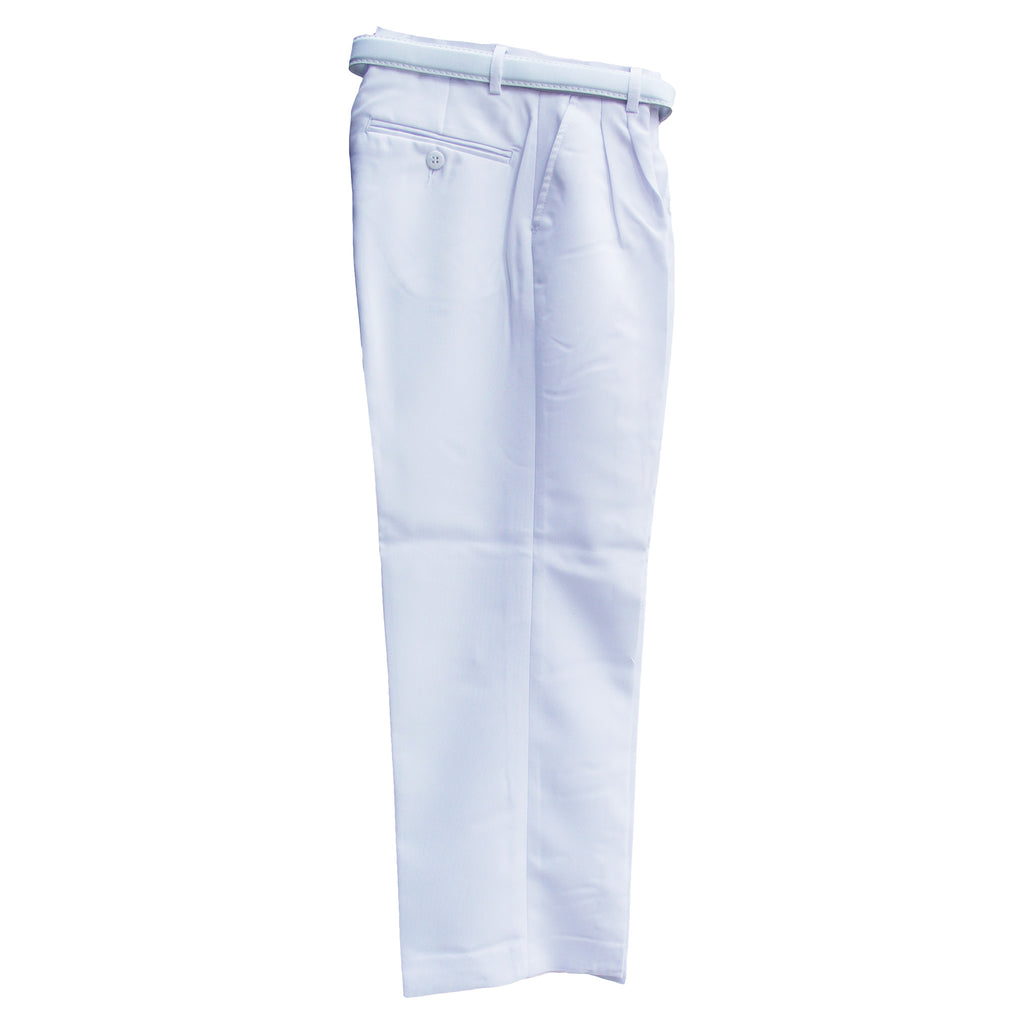 Boy's  White Modern Fit Dress Pants