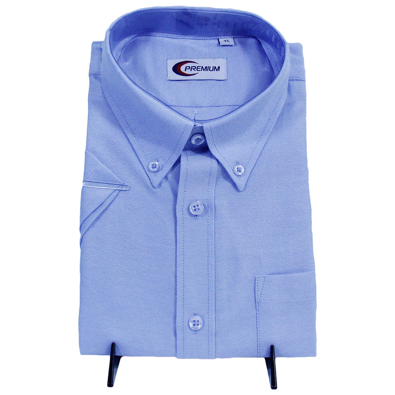 Kid Blue Oxford Uniform Shirt