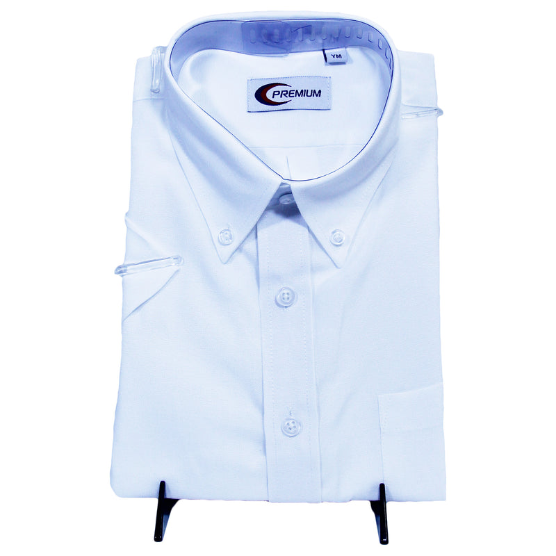 Kid White Oxford Uniform Shirt
