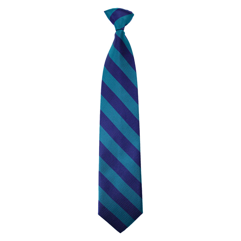 Navy/Green Adjustable tie with Velcro closure