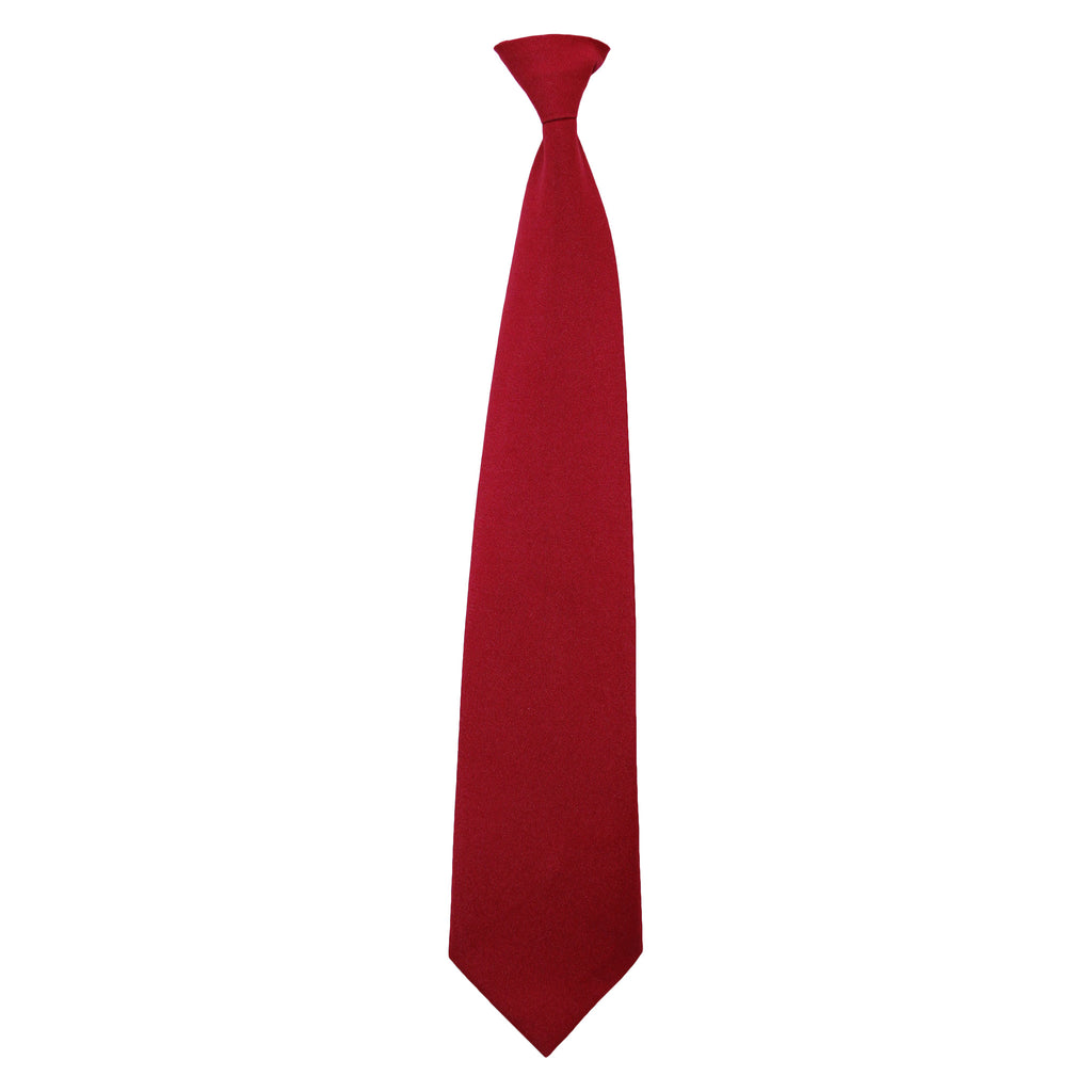 Red Adjustable tie with Velcro closure