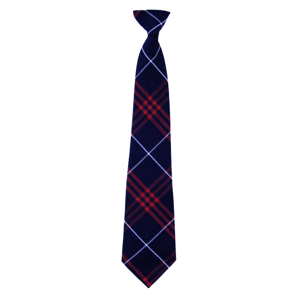 Navy/Red Adjustable tie with Velcro closure
