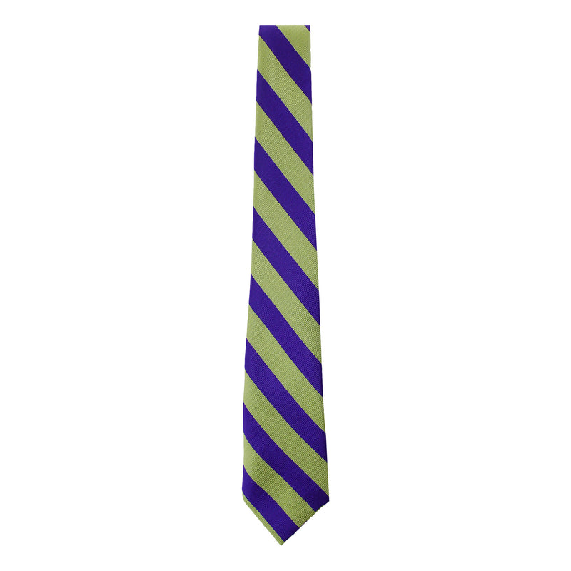 Yellow/Purple Self Tie