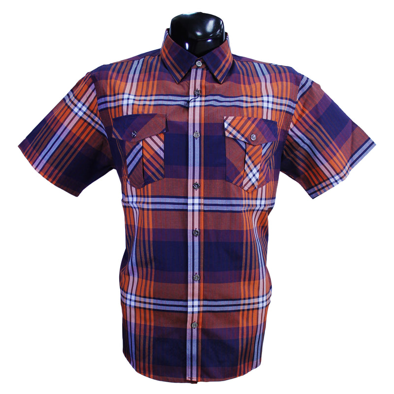 Navy/Orange Ablanche Button Down Shirt