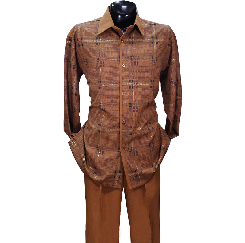 Cognac Stripe Pronti 2 PC Set