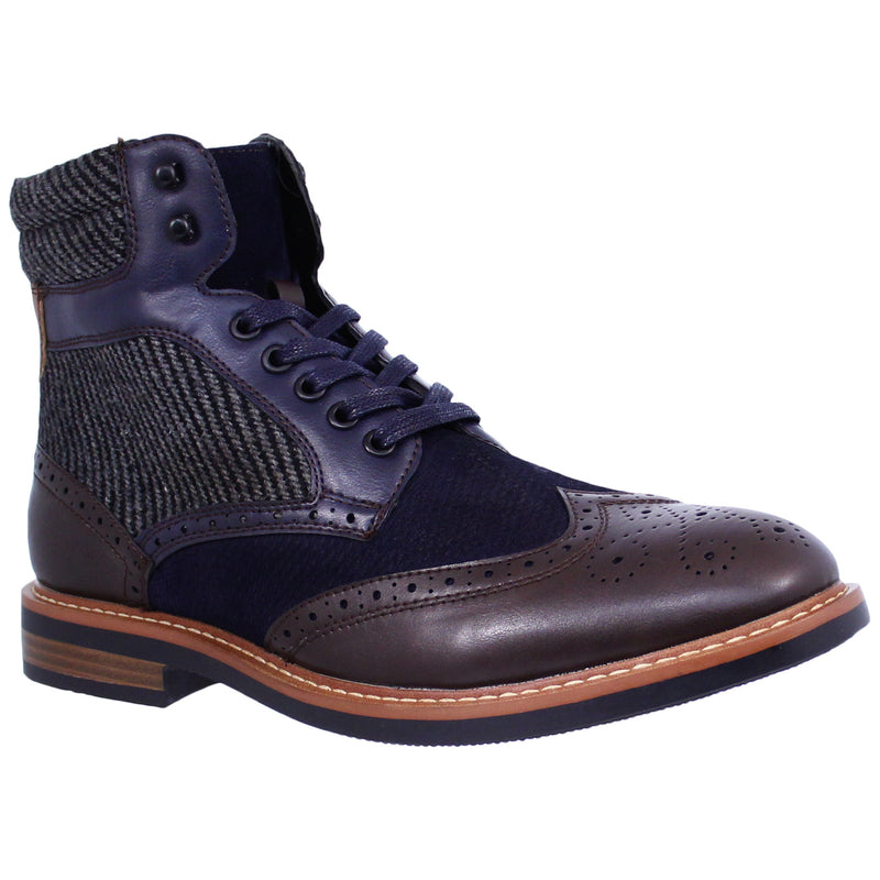 Brown/Navy Derrek Boot La Milano