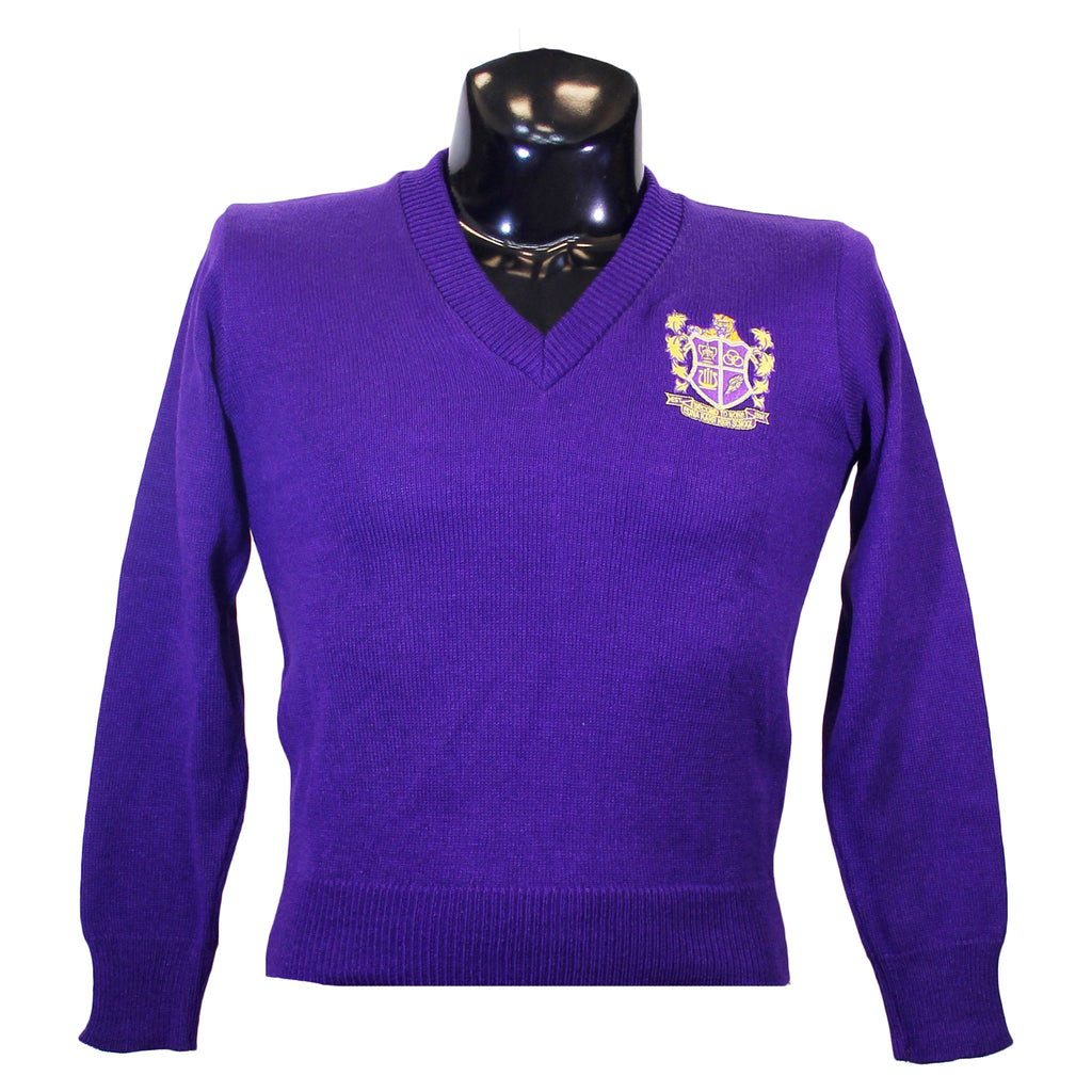 Edna Karr Purple V Neck Sweater