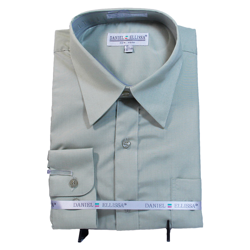 Solid Mint Green Daniel Ellissa Shirt W/ Tie and Hanky  Includes Dress Shirt, Tie, Handkerchief, and Cuffs