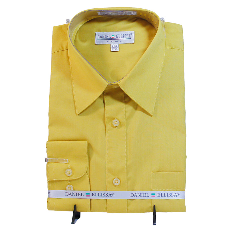 Solid Gold Daniel Ellissa Shirt W/ Tie and Hanky  Includes Dress Shirt, Tie, Handkerchief, and Cuffs