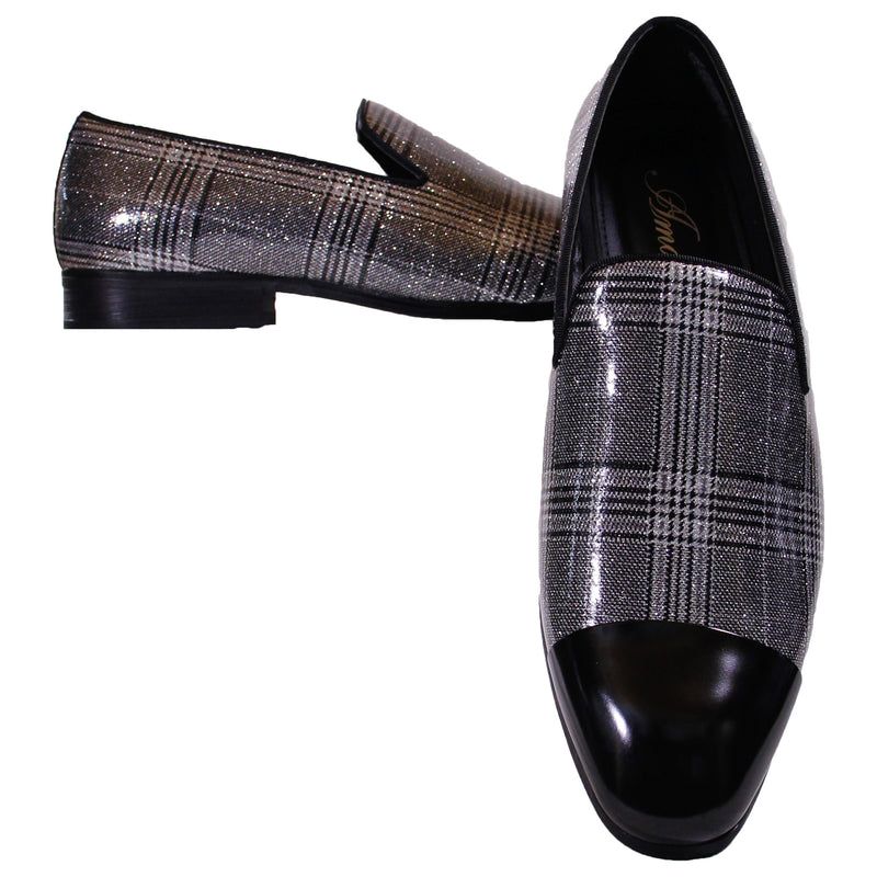 Black/White Basset Amali Slip On Dress Shoes