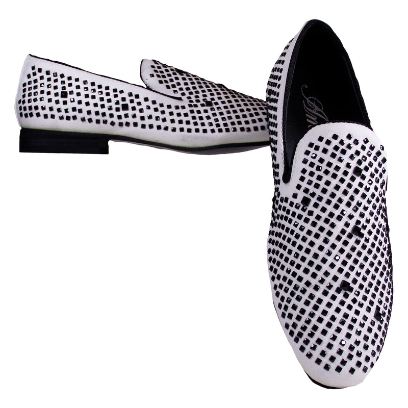 White Devy Amali Slip On Dress Shoes