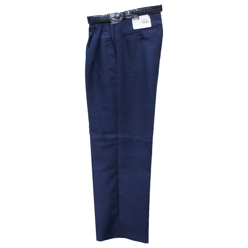 Boy's Navy Modern Fit Dress Pants- Bocaccio