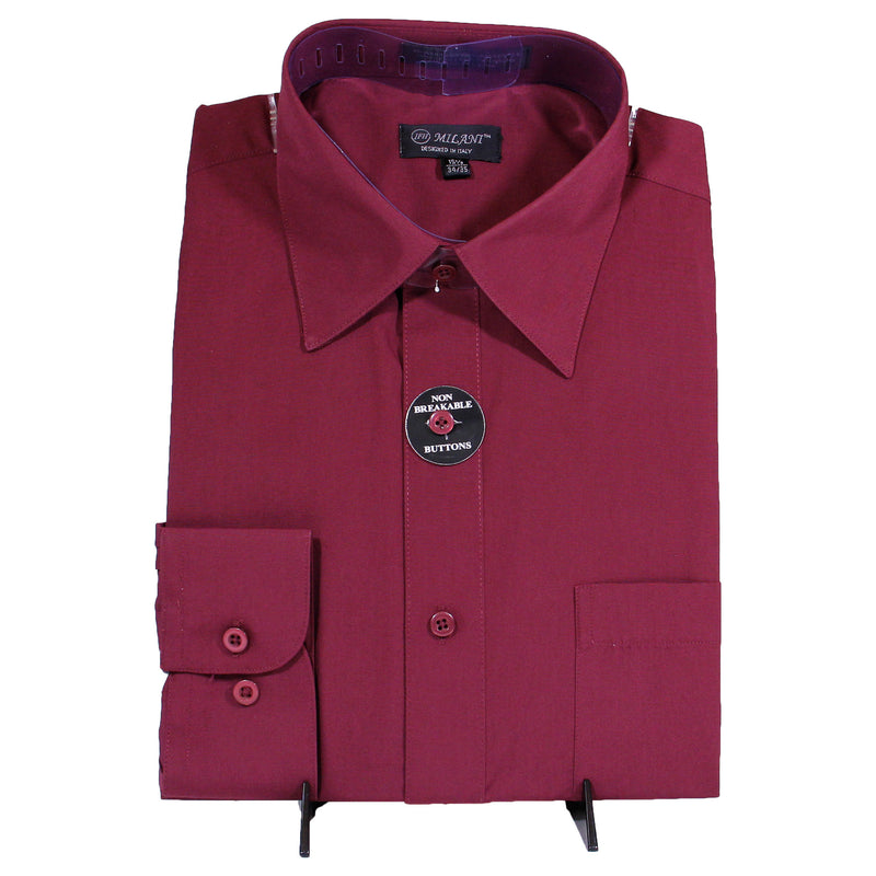 Burgundy Milani Dress Shirt