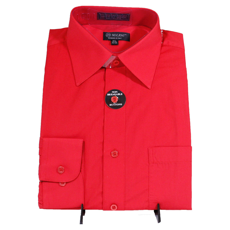 Red Milani Dress Shirt