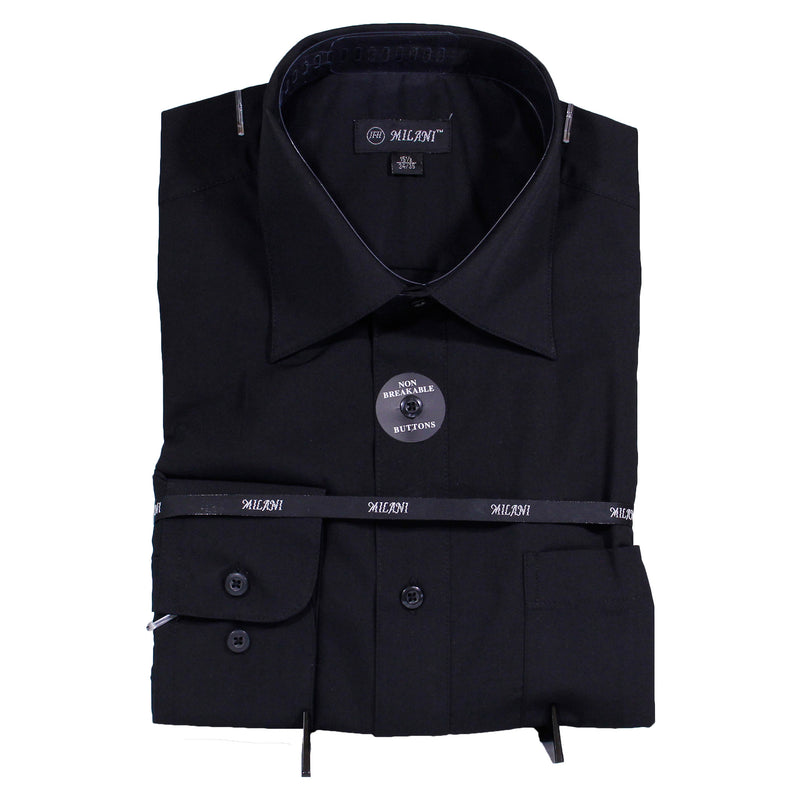 Black Milani Dress Shirt