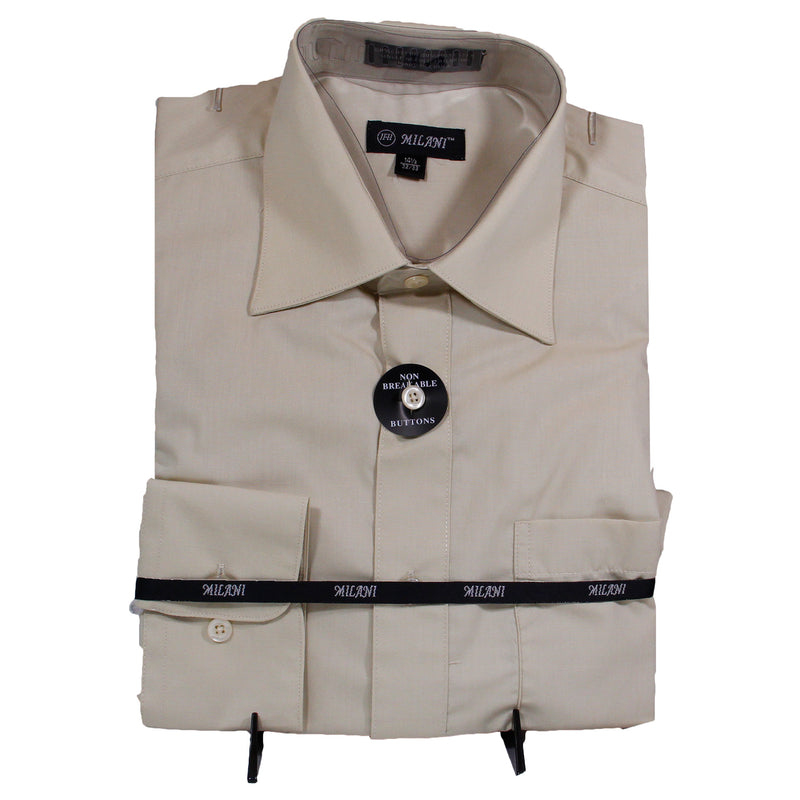 Taupe Milani Dress Shirt