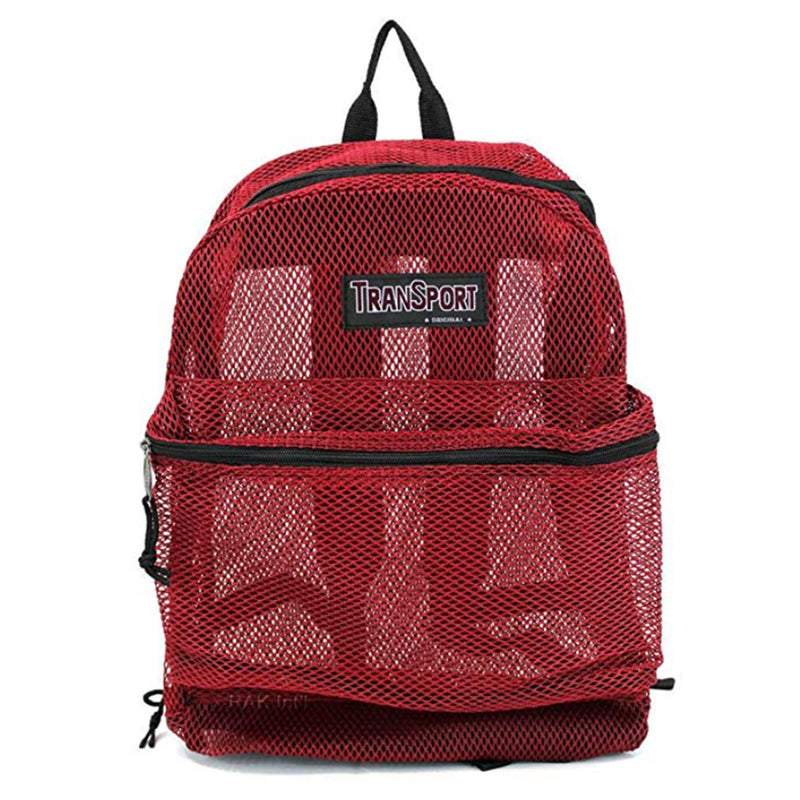 Red Mesh School Bag