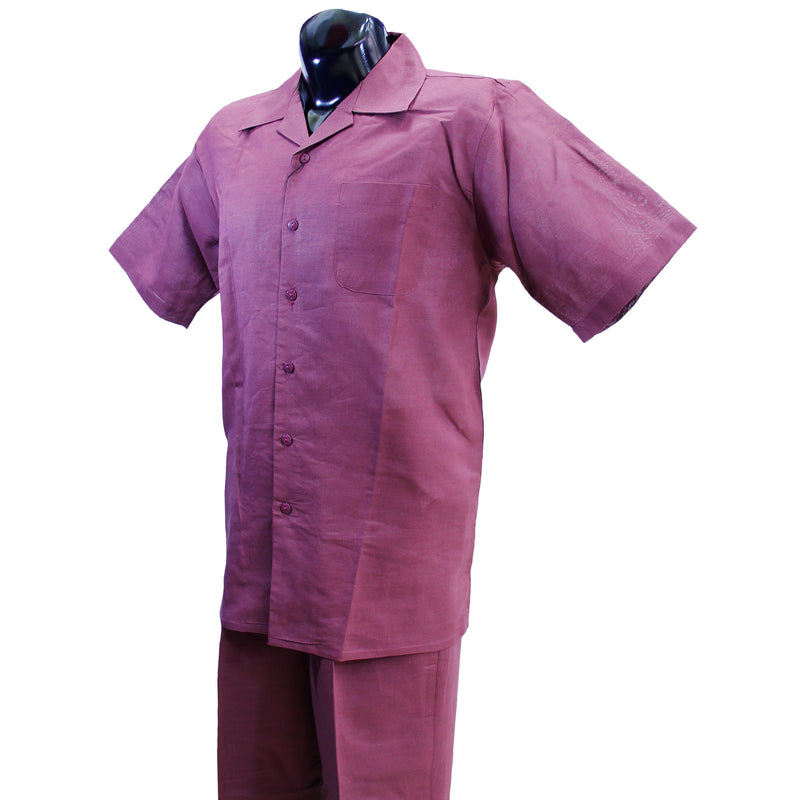 Burgundy 2pc. Linen Sets