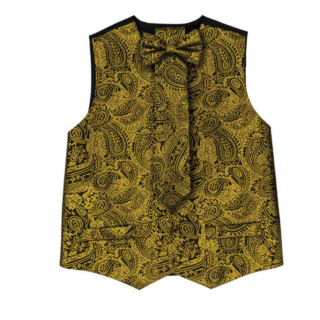 Gold Vest Set with Hanky and Tie Karl Knox